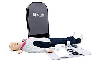 Resusci Anne QCPR corpo intero con testa intubabile e trolley
