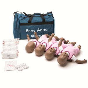 Laerdal Baby Anne pelle scura confezione da 4 pezzi